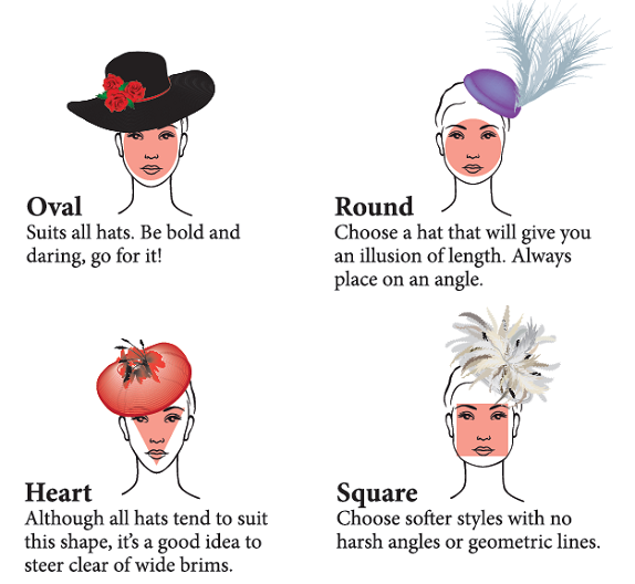 ... face should wear hats with downturned or upturned brim. Heart face 95b1a5507e76